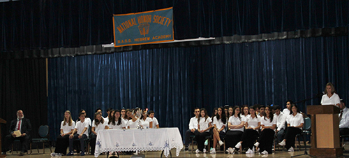 Hebrew Academy National Honor Society induction ceremony.
