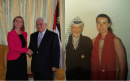 EU Foreign Minister, Federica Mogherini pictured with terrorists Arafat and with Abbas