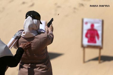 Hamas women learn to shoot in Khan Younis - Hadash Hahamot