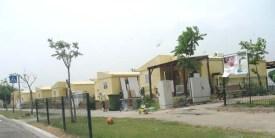 Temporary homes for resettled Gush Katif evacuees in Yad Binyamin.