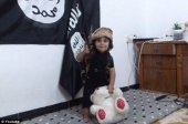 ISIS toddler beheading his teddy bear.
