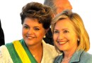 Impeached president of Brazil, Dilma Rousseff with former US Secretary of State Hillary Clinton
