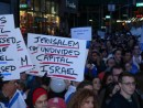 'Jerusalem, the undivided capital' at the forefront of the 'Zero Tolerance 4 Terror' rally in Times Square.