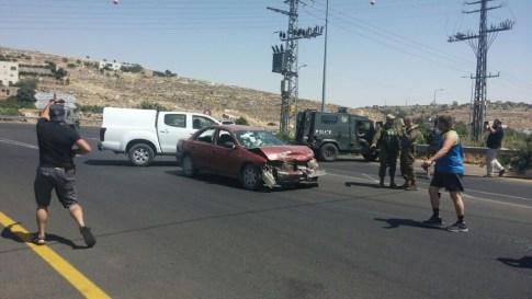 Terrorists car in ramming attack - June 24, 2016
