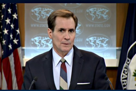 U.S. State Dept. Spokesperson John Kirby at Daily Press Briefing, Oct. 15, 2015.