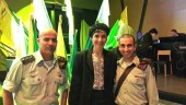 MK Shuli Mualem with IDF officers