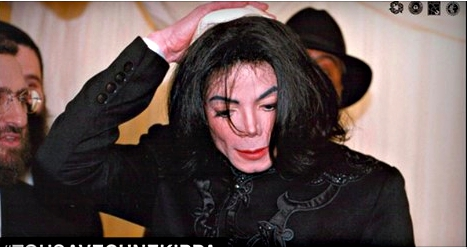 Michael Jackson with Kippa