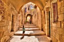An alleyway in Jerusalem's Jewish Quarter