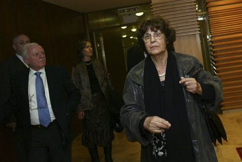 Nadia Cohen, Eli Cohen's widow arrives to the opening of the 18th first session of the Knesset in Jerusalem on February 24 2009.