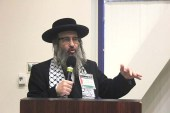 Neturei Karta's Yisroel Dovid Weiss disrupted a recent Hillel movie screening and a speech