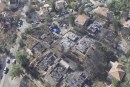 Neve Tzuf (Halamish) after the pyroterrorism fires.