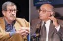 Nobel laureates who demonized Israel: German novelist Günter Grass (left), a former member of the Nazi SS and Portuguese novelist José Saramago (right), who made a distorted, demonizing comparison between Hitler and Israel.