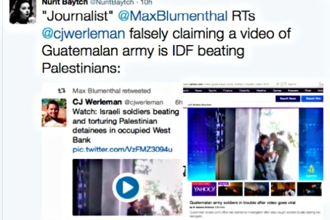 Max Blumenthal and CJ Werelman passed off a vicious soldier abuse video as the IDF doing wrong