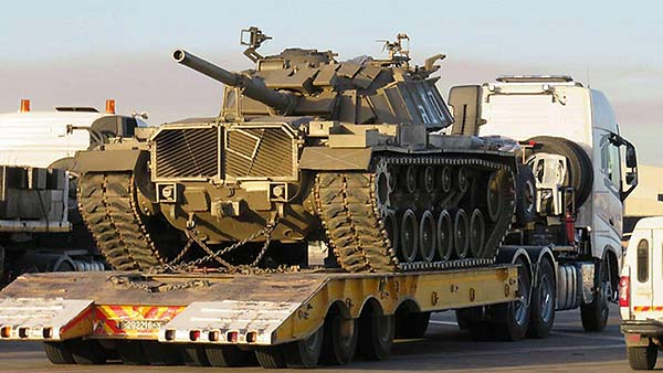 Returned tank in Israel / Courtesy