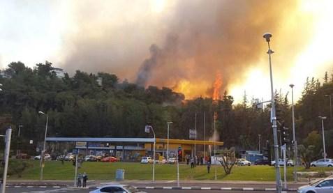 Romema, Haifa, in flames