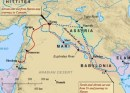 The travels of Abraham from Ur to Canaan