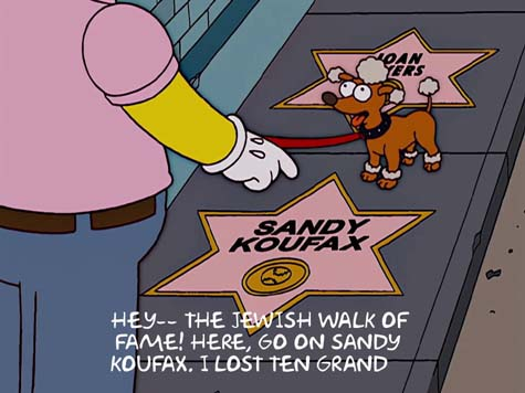 Simpsons Sandy Koufax