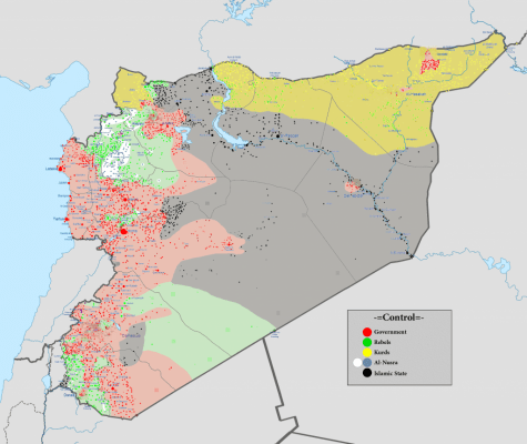 The current military situation in Syria.