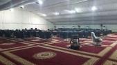 The tent under which Arab leaders are meeting for the 27th Arab League summit. / Photo credit: Al Arabiya