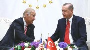Turkish President Recep Tayyip Erdogan (R) receives US Vice-President Joe Biden at Presidential Complex in Ankara, Turkey on August 24, 2016. ( Kayhan Özer - Anadolu Agency )