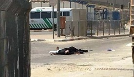 The two Qalandiya terrorists on the ground.