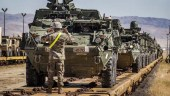 US Stryker armored vehicles