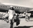 Yemenite Jews arriving in Israel through Operation Magic Carpet.