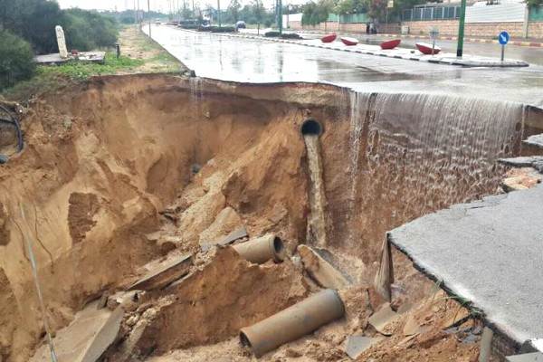 Road collapse in Ashkelon