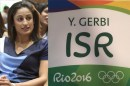 Olympic Medalist Yarden Gerbi and Her Olympic Name Patch:  Gerbi is auctioning the name patch she wore during the Rio Olympics and donating the money raised to children with cancer.