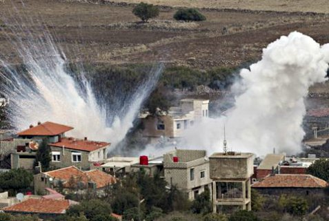 Israel  fires into Syria in response to shelling of the Golan Heights.