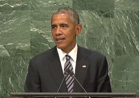 U.S. President Barack Obama addresses the UN General Assembly for the last time, Sept. 20 2016.