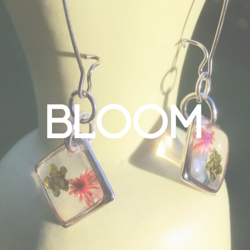 jeyjetter.com: Colombian Handmade Silver Earrings With Two Real Flowers