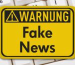 Fake News Warnung - FotoliaLicense#133527771