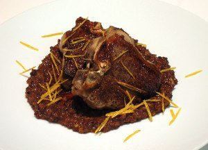 Lamb Chops with Fig and Orange Tapenade - small