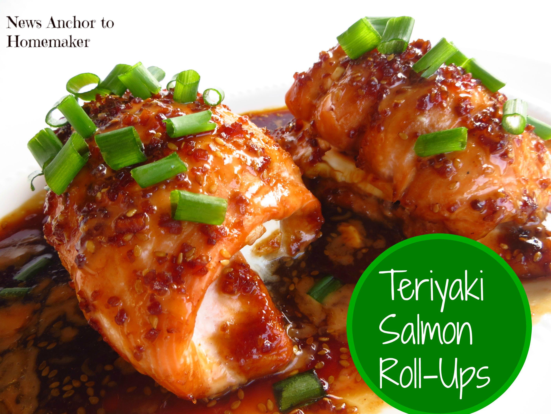 Asian salmon roll ups