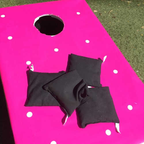 minnie mouse bean bags corn hole game birthday