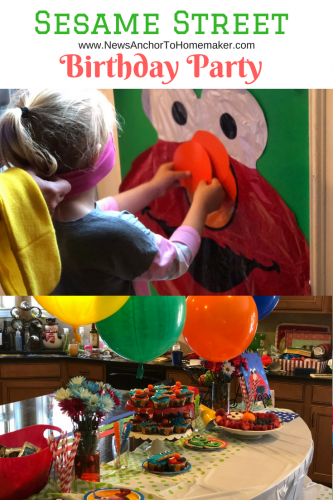 Sesame Street birthday party game ideas pin the nose on elmo