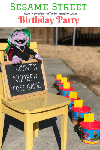 Sesame Street birthday party game the count