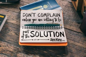 Quote wallpaper from Jim Key @ 4x3 - Don't complain unless...