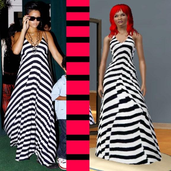 Rihanna Sims 3 dress by dcassar360