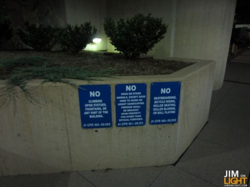 Things you can't do in Murrah Plaza!