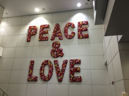 Peace and Love... alking through MIA to my gate