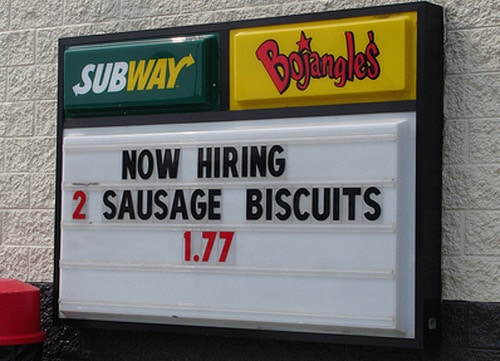 How does one become -- a sausage biscuit -- really?
