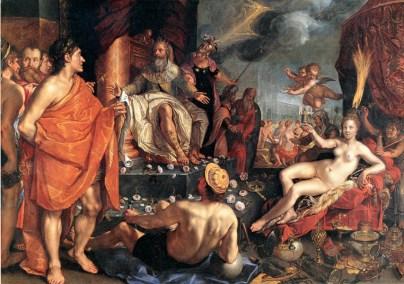 Hendrick Goltzius, Allegorie der Künste, 1611, Öl auf Leinwand, 181 x 256,6 cm, Kunstmuseum Basel (Inv.-Nr. 252), © Kunstmuseum Basel, Foto: Martin P. Bühler