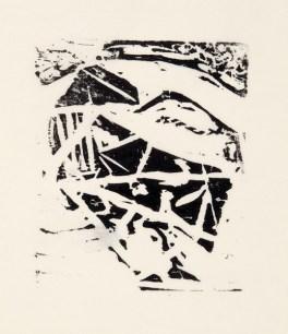 Per Kirkeby, Stier, 1960; Holzschnitt; Darstellung: 99 x 85 mm, Blatt: 199 x 141 mm; Museum Jorn, Silkeborg, © Per Kirkeby, Foto: Lars Bay, Museum Jorn, Silkeborg
