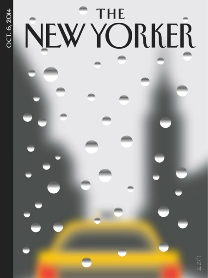 Christoph Niemann, Magazin-Cover Rainy Day, THE NEW YORKER, New York, 2014, © Christoph Niemann