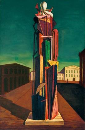 Giorgio de Chirico, Der große Metaphysiker, 1917, Öl auf Leinwand, 104,8 x 69,5 cm, Privatsammlung, © VG Bild-Kunst, Bonn 2015