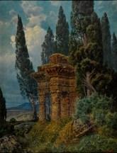 Ferdinand Knab, Tempelruine, 1894, Öl auf Leinwand, Museum im Kulturspeicher, Foto W. Berberich