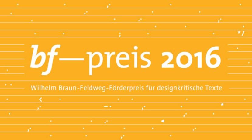 bf-preis 2016, ©bf-Design