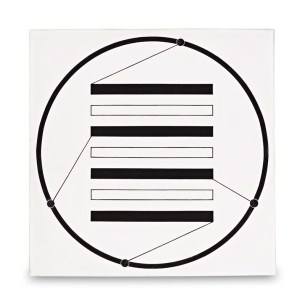 Manfred Mohr, Bild 1967 [11/667], tempera/canvas, 1967, 47 x 47 cm